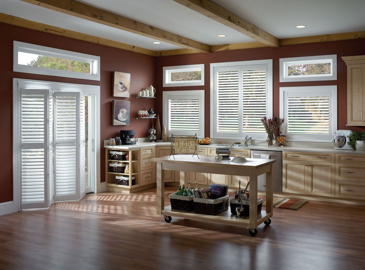 Eclipse Shutters in a kitchen setting
