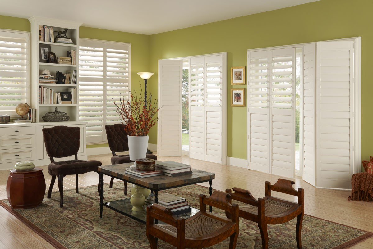 Image of Eclipse Shutters in a den or living room