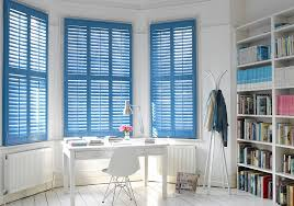Blue Window Shutters by Shutters Etc.